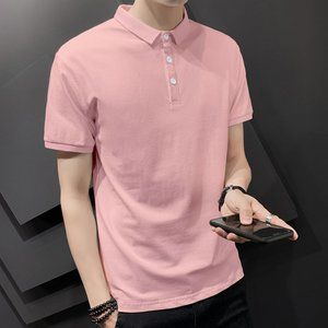 New men's trendy short-sleeved t-shirt V